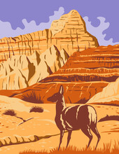 Badlands National Park In South Dakota WPA Poster Art