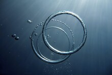 Close-up Of Rings Underwater