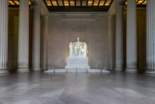 The Lincoln Memorial Indoors On The National Mall In Washington DC