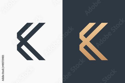 Obraz Letter K Logo Template Design Vector Illustration Design Editable Resizable EPS 10 - fototapety do salonu