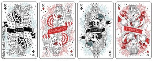 Cuadros en Lienzo King playing cards