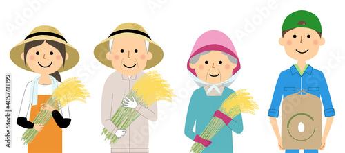 Fotografia, Obraz 米農家の人々 働く人