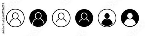 User icon set, avatar. User profile login, member profile. - fototapety na wymiar