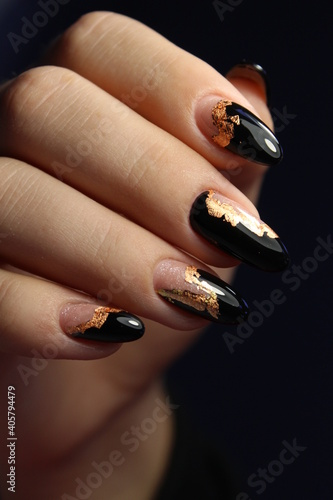 Fotografie, Obraz beautiful manicure of nails on the background of a fashionable
