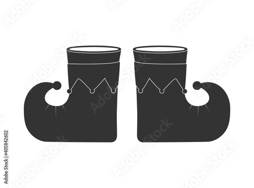Fototapeta Buffoon's boots. Flat vector icon isolated on a white background