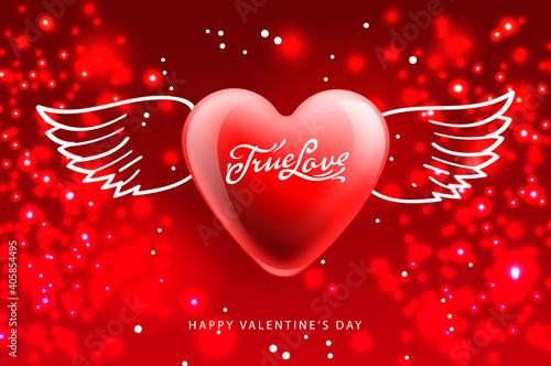 Cuadros en Lienzo Valentines Day poster