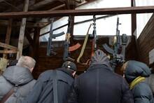 Arms Trade On The Market In Moscow's Izmailovsky Kremlin