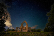 Bolton Abbey Against Sky At Night