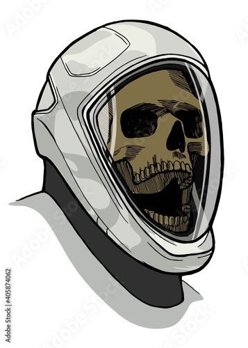 Canvas Skull in th new space suit headed to Mars