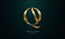 Alphabet Letters QA, AQ, Q Or A Abstract Icon Logo