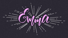 Emma Name Vector Typography With Starburst
