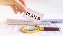 Plan B Text On Cubes. Crisis Management Concept