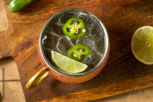 Boozy Refreshing Spicy Jalapeno Tequila Mule © Brent Hofacker