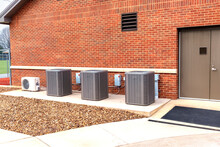 HVAC Units Outside School Building