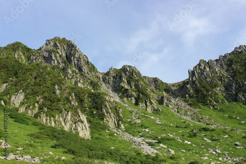 Scenic View Of Mountains Against Sky #405921437