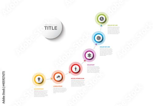 Fototapeta Infographic Progress Timeline Layout obraz