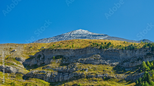 Fotografie, Obraz Low Angle View Of Mountain Against Blue Sky