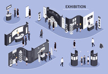 Exhibition Isometric Illustration