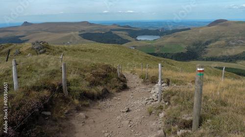 Obraz Hiking Trail In Pass Croix Morand - fototapety do salonu