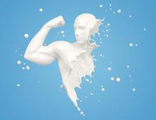 Splash Of Milk In Form Of Arm Muscle
