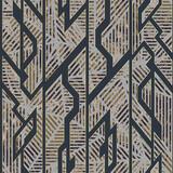 Grunge geometric seamless pattern with gold effect. - 405994266