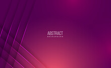 Vector Abstract, Science, Futuristic, Energy Technology Concept. Digital Image Of Light Rays, Stripes Lines With Pink Light, Speed And Motion Blur Over Dark Pink Background