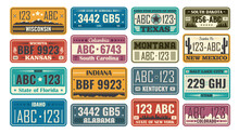 USA License Plate Set