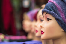 Close-up Of Mannequin Wearing Knit Hat