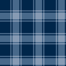 Abstract Dark Blue Tartan Many Square Pattern With Geometric Square Texture Overlay On Blue.