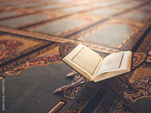 Islam holly book Quran koran Fototapet