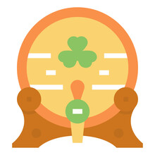Beer Cask Icon For Web Element , Webpage, Application, Card, Printing, Social Media, Posts Etc.