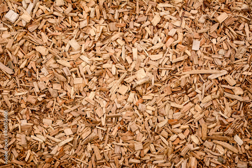 Obraz Pile of brown wood chips - fototapety do salonu