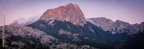 Photo Penyal des Migdia 1401 meters, adjacent to the Puig Major of Son Torrella, Forna