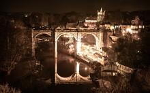 Knaresborough Viaduct Riverside At Night