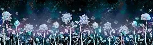 Fototapeta Fancy water lilies in light color
