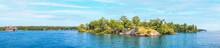 Small Lonely Island Harbor Island USA New York