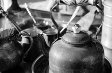 Traditional Outdoor Coffee Preparing At Romania