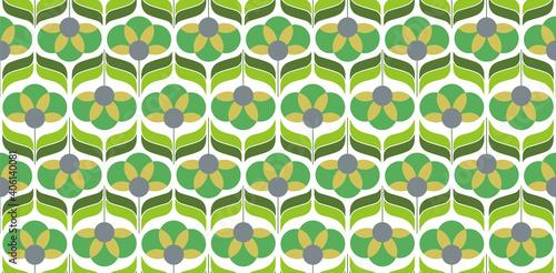 70's retro seamless wallpaper pattern material / vector illustration Fototapeta