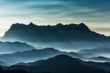 Doi Luang Chiang Dao Beautiful Mountain,Limestone Mountains,Second Highest In Thai,in Chiang Mai Thailand,
