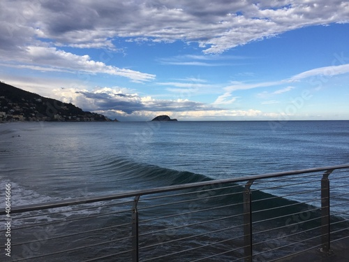 Scenic View Of Sea Against Sky Wallpaper Mural