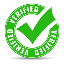 Verified Circle Symbol With Green Tick