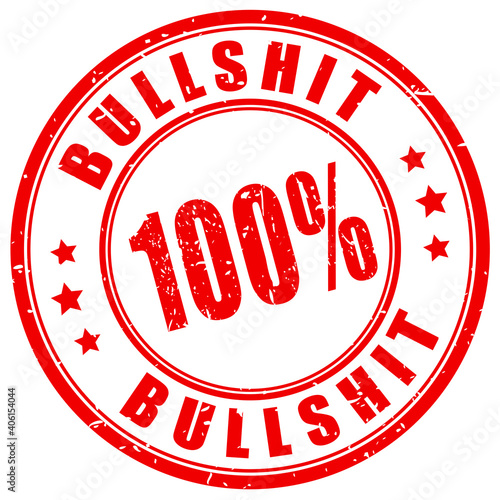 Slika na platnu Bullshit vector stamp