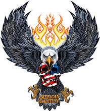 American Eagle And Skull
