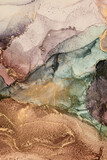 Alcohol ink art.Mixing liquid paints. Modern, abstract colorful background, wallpaper. Marble texture.Translucent colors - 406200678