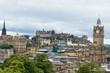 Blick über die Altstadt von Edinburgh auf den Schloßberg