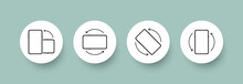 Rotate Mobile Phone. Device Rotation Symbol Set. Rotate Smartphone, Icon Set Vector Illustration For Mobile App Or Web Site . Smartphone Screen. EPS 10