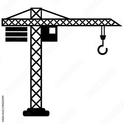 Canvas Print Vector jib crane icon