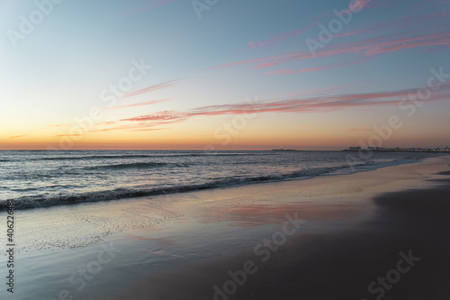 Mesmerizing view of a beach in Cadiz at sunset