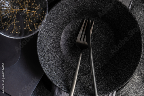 Canvas Minimalistic place setting