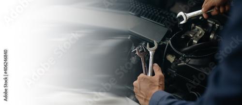 Fotografie, Obraz Car service, repair, maintenance concept